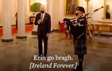 Biden's bagpipe gaffe - it's uilleann pipes that are Irish!