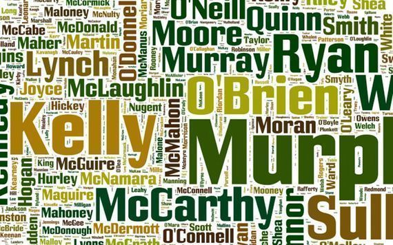 Irish surnames are scattered all over the globe