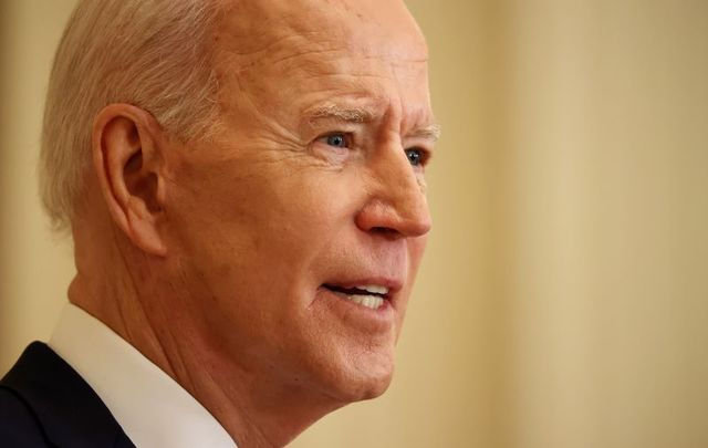 March 25, 2021: President Joe Biden answers questions during the first news conference of his presidency in the East Room of the White House on the 64th day of his administration.