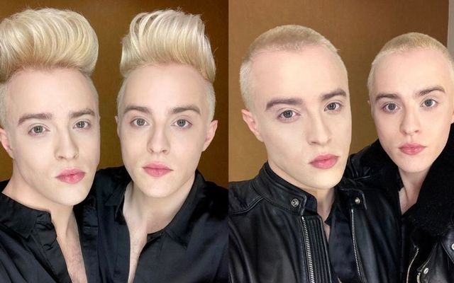 John and Edward Grimes shaved their heads on live television to raise money and awareness for the Irish Cancer Society.