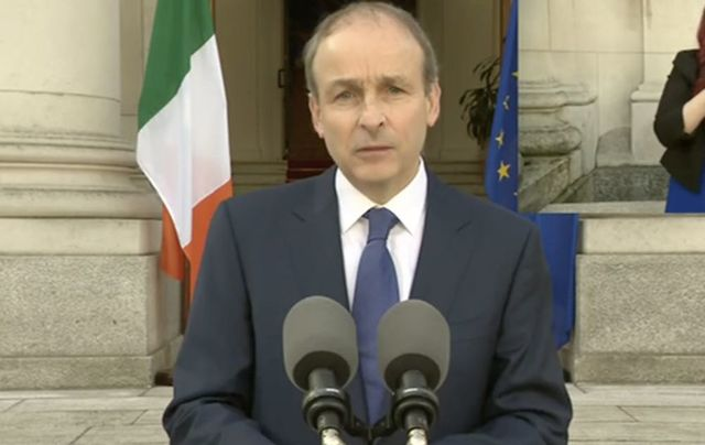 Taoiseach (Ireland\'s leader) Micheal Martin addresses the nation again with a roadmap to free the island of COVID.