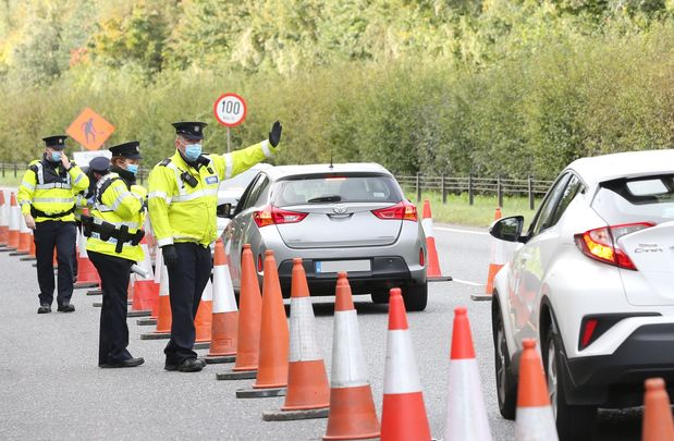 Gardai checkpoint during the Covid lockdown.