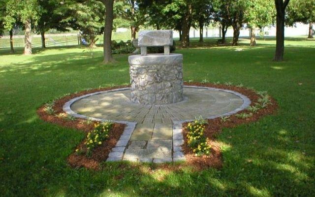 The Irish Famine Memorial in War Veterans Park in Olean prior to its destruction. \n