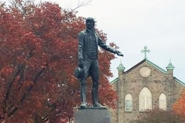 The statue of Irish-born Captian John O\'Donnell in the Canton area of Baltimore, Maryland.
