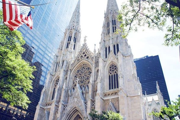 St. Patrick\'s Cathedral in New York City where Irish LGBT people rallied against a recent announcement from the Vatican.