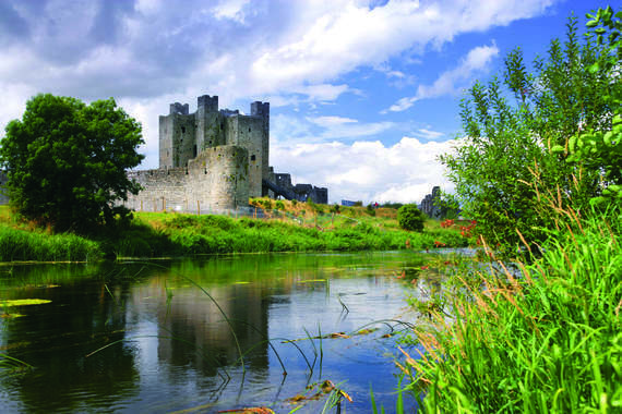 The River Boyne as it flows past Trim Castle in County Meath.