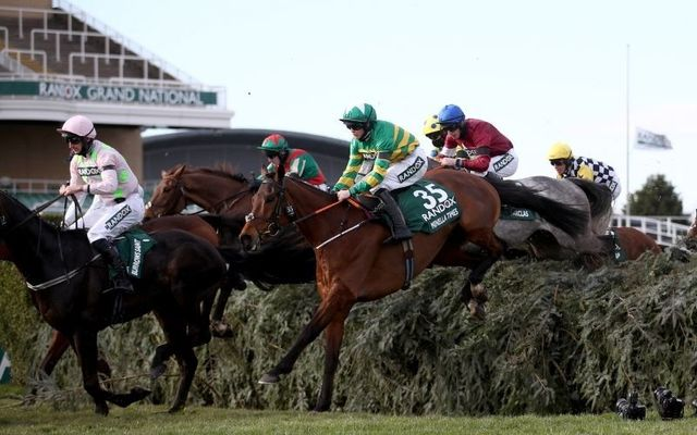 Minella Times (number 35) ridden by Rachael Blackmore during the English Grand National on Saturday.