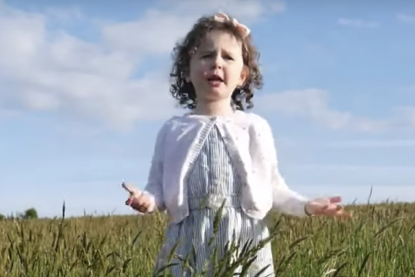 Emma Sophia, aged four from Cork, singing I\'ll Tell Me Ma, an old children\'s song.