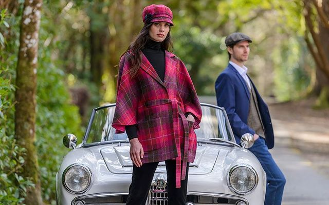 Gents Vest and matching Driving Cap and Ladies Torc Jacket from Mucros Weavers