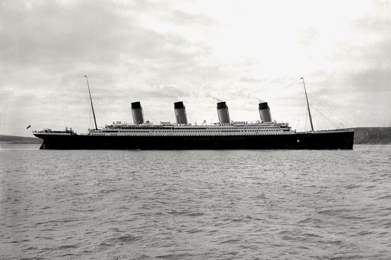 The Titanic in Cobh Harbour.