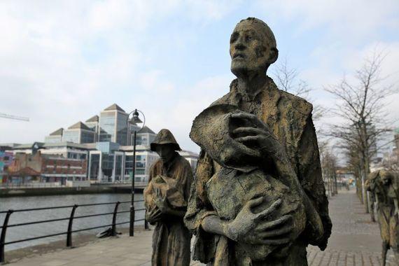 An Irish Famine memorial in Dublin.