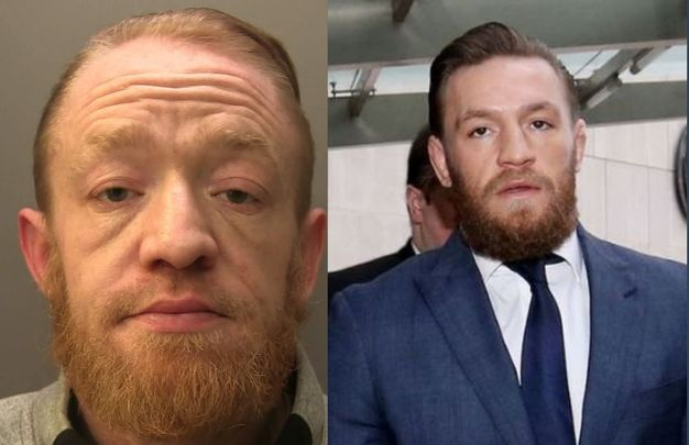 Mark Nye (left) was jailed for two years and nine months after dealing drugs while impersonating Conor McGregor (right).