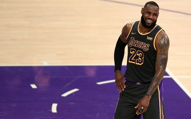 LeBron James during the Lakers\' win over the Indiana Pacers in March.
