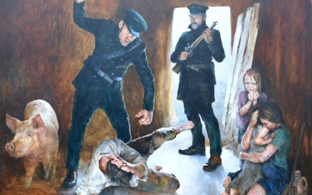 Artist Danny Howes depiction of a Famine eviction for Jerry Mulvihill\'s compelling new book.