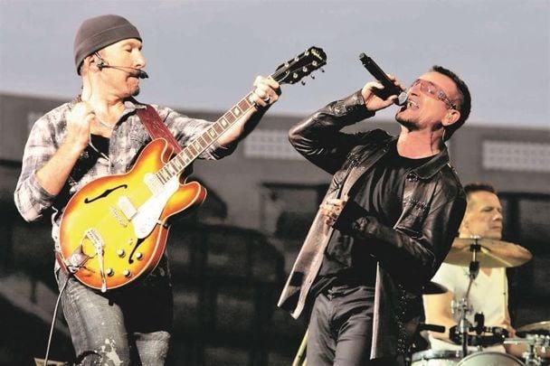 U2 performing in Dublin\'s Croke Park in 2009.
