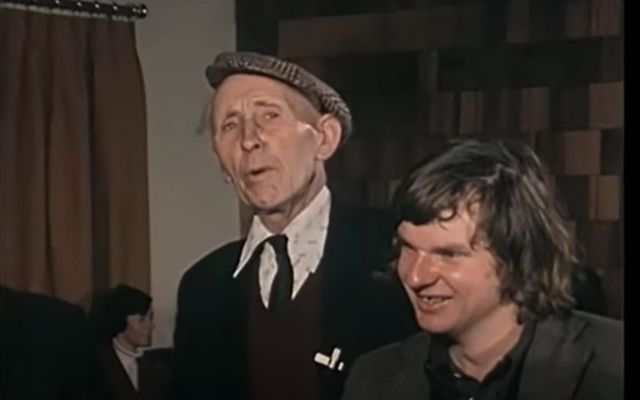 Sonny Welsh storytelling in a local pub in County Clare 1979