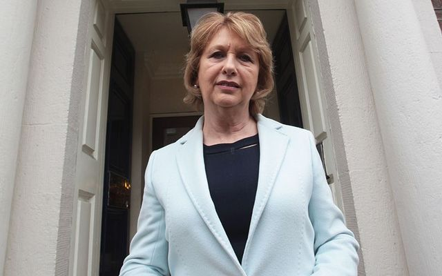 March 2016: Mary McAleese before she launched a groundbreaking report on the mental health and wellbeing of LGBTI people in Ireland outside Royal Irish Academy in Dublin.