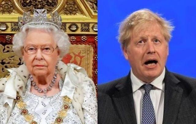 Queen Elizabeth and UK Prime Minister Boris Johsnon.