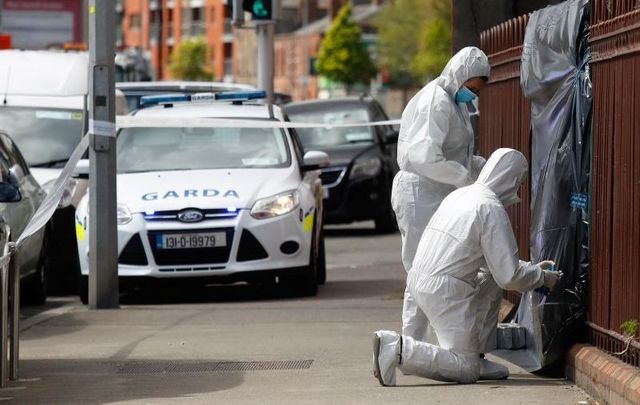 April 29, 2021: Garda Forensics at the scene on Cork Street in Dublin where the body of Hong Kong native Kwok Ping Cheng was found in unexplained circumstances.