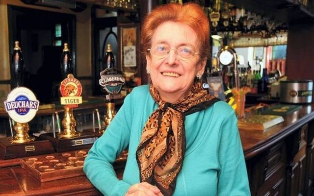 Nancy Murray at the Peveril and the Peak bar in Manchester.