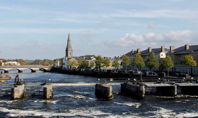The town of Ballina, in County Mayo.