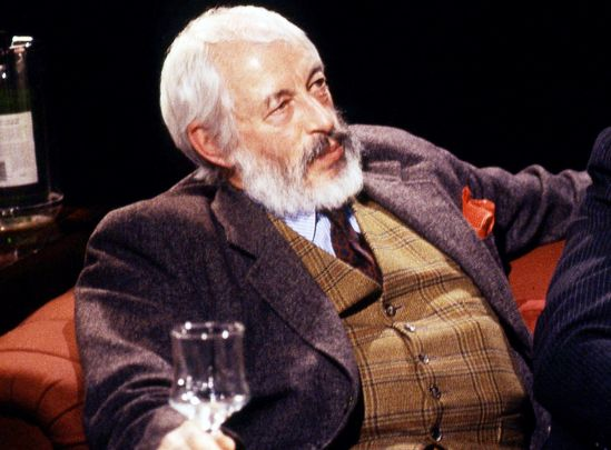 J.P. Donleavy appearing on After Dark in 1991.