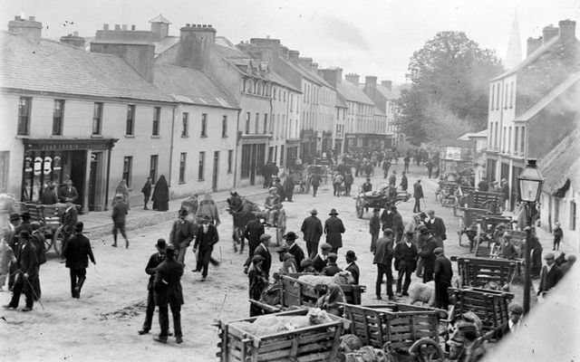 College Street, in Killarney, during Ireland\'s War of Independence.