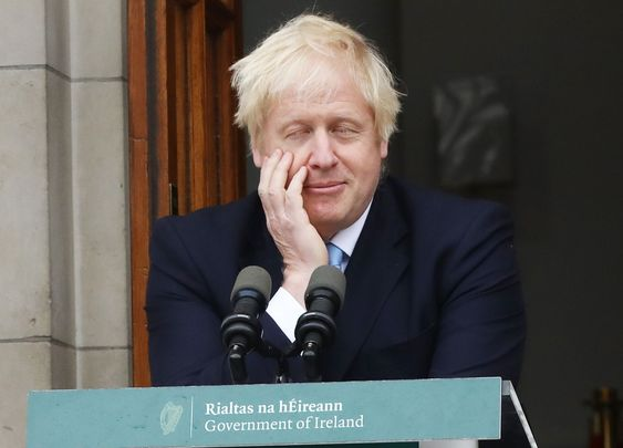 British Prime Minister Boris Johnson, photographed at a press conference in Ireland, in 2019.