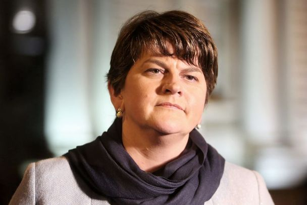 Arlene Foster, who recently announced her resignation as head of the DUP and as First Minister of Northern Ireland, pictured here in 2016.