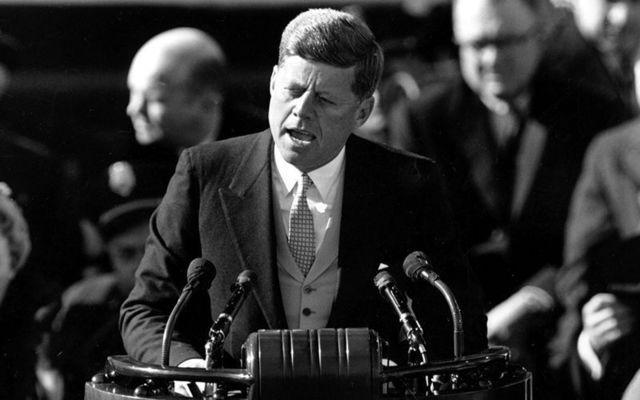 John F. Kennedy on his inauguration day, January 20, 1961.