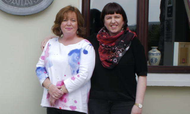 The wonderful mother and daughter behind Daly's House in Doolin.