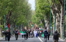 Thousands gather at Israeli Embassy in Dublin to show support for Palestine