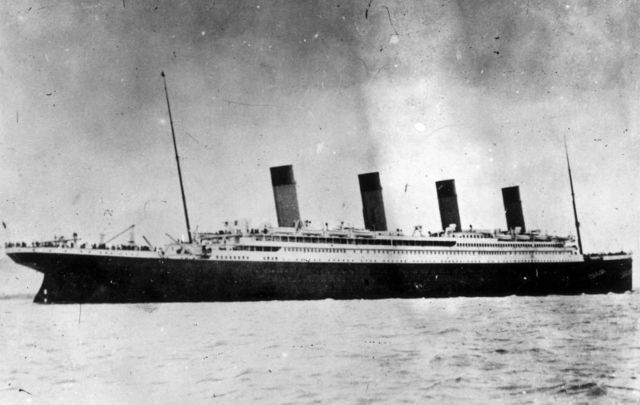 The Titanic sank on its maiden voyage in 1912 .