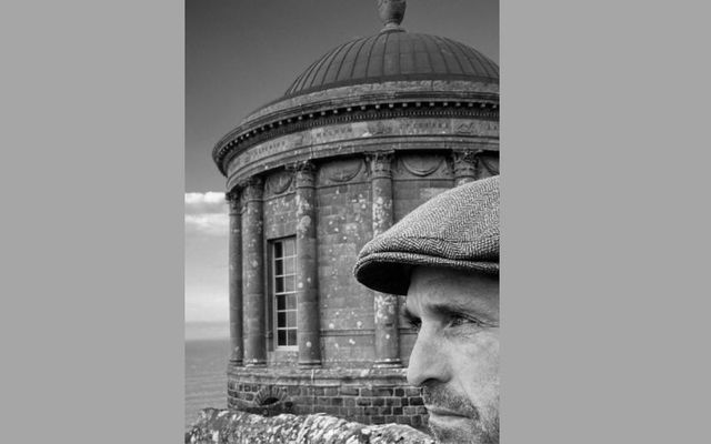 Actor Patrick Dempsey at Mussenden Temple in County Derry