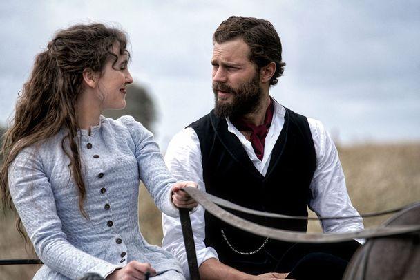 "Ann Skelly and Jamie Dornan in ""Death and Nightingales"""