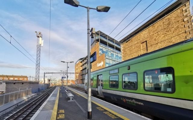 The incident occurred at a DART station in North Dublin.