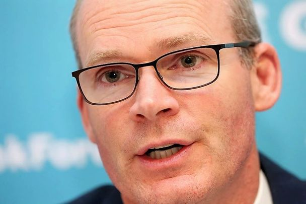 Ireland\'s Minister for Foreign Affairs Simon Coveney, pictured here in January 2020.