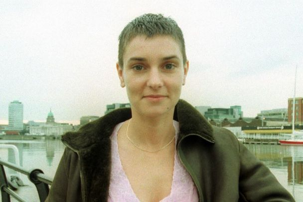 Sinead O\'Connor pictured here alongside the Liffey in Dublin in 2000.