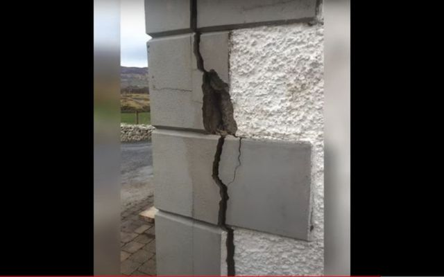 An example of a home in Co Donegal deteriorating thanks to mica.