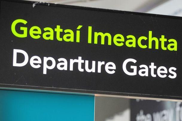 Departure gates at Dublin Airport.