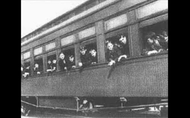 Children on board an Orphan Train.