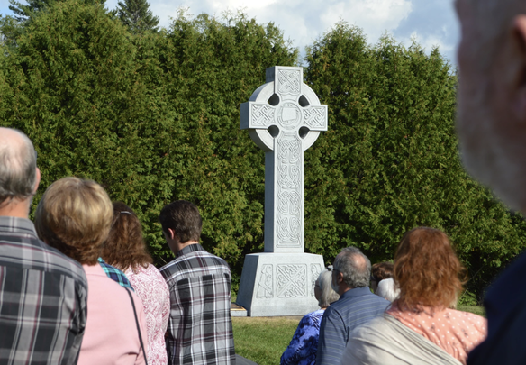 Celtic Cross, part of the memorial to the survivors of the Great Irish Famine at the Martindale Pioneer Cemetery, Quebec.