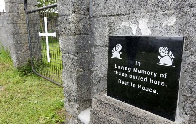 June 2014:  The grounds where the unmarked mass grave containing the remains of nearly 800 infants who died at the Bon Secours mother-and-baby home in Tuam Co Galway from 1925-1961 rests.