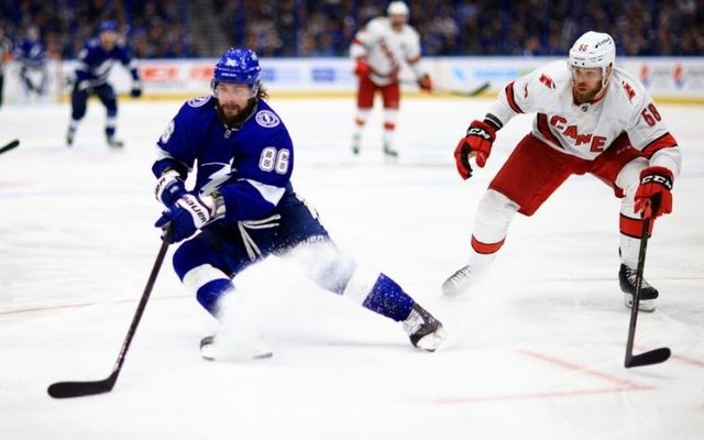 The Carolina Hurricanes take on the Tampa Bay Lightning in the second round of the Stanley Cup play-offs this year.