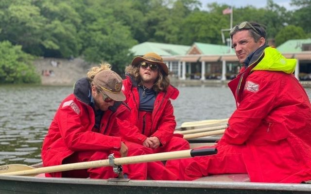 (L-R): Ryen Cosgro, Chris McCaffery, Réamonn Byrne are rowing from New York to Ireland for charity