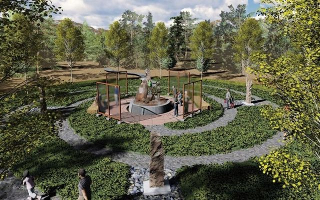 Artist's impression of a memorial in the works for the 1,000 Irish miners who died in Poverty in Leadville, Colorado.