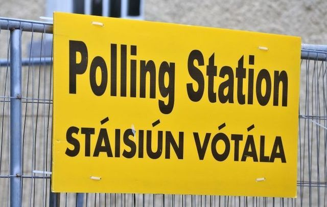 A polling station in Ireland in 2019. Should Irish citizens abroad be able to vote in Irish elections?
