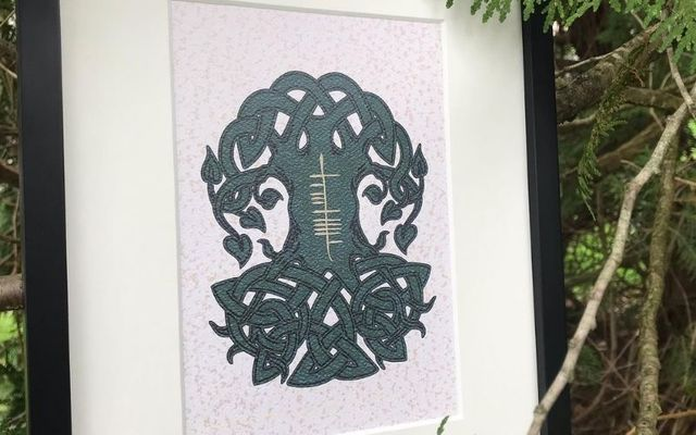 Colleen Berry Conway and her husband Chris are the owners of Ogham Art