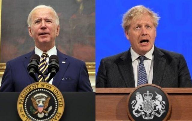US President Joe Biden and UK Prime Minister Boris Johnson.
