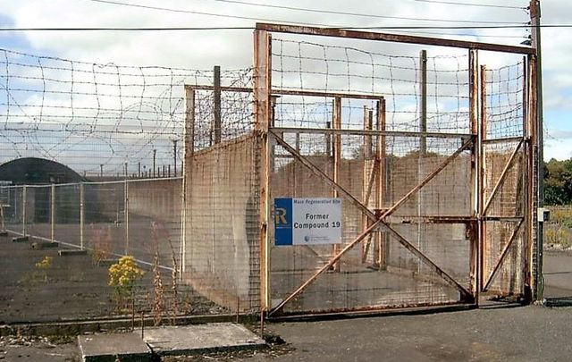 A picture taken in 2006 of the entrance to Compound 19 of the Long Kesh Internment Camp.